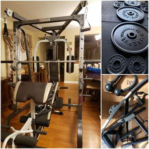Marcy MD-9010G Smith Machine Home Gym w/ Weights. CAN DELIVER & ASSEMBLE. PRICE FIRM. READ POST. for Sale in Houston, TX