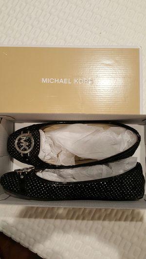 Michael Kors, size 7.5, black glitter flats for Sale in Denver, CO