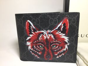 Gucci Wolf Printed Black Leather Wallet Authentic for Sale in The Bronx, NY