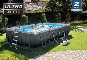 Intex Ultra XTR 24ft x 12ft / 52 inches Swimming Pool Set w/ sand pump & saltwater system for Sale in Anaheim, CA