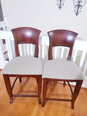 Counter height walnut wood chairs for Sale in Duluth, GA