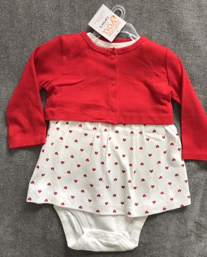 Valentines Day Gift Dress 2 pc set for Baby Size 9 months for Sale in Alexandria, VA