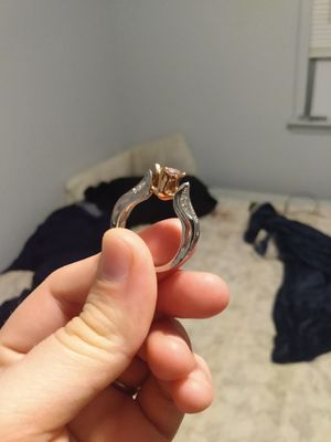 Vorcano silver and rose gold wedding ring for Sale in Appomattox, VA