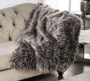 Accent throw blanket - fake animal fur for Sale in Fullerton, CA