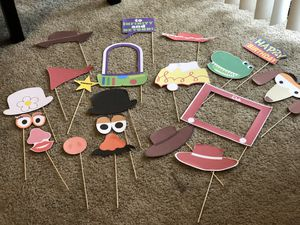 Toy Story Photo Booth Props. 22 pieces for Sale in Chandler, AZ