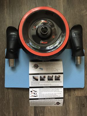 Fitness Ab Roller Wheel for Core Workout with Slight Rebound Function and Knee Pad for Sale in Franconia, VA