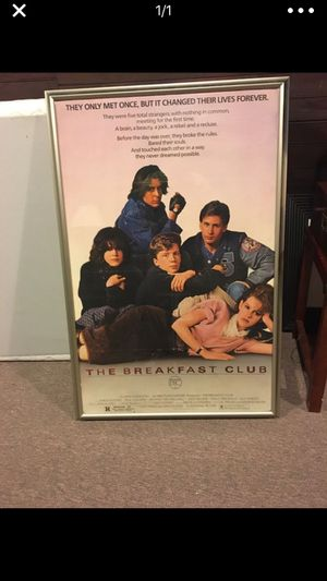The Breakfast Club poster/frame for Sale in Weston, MA