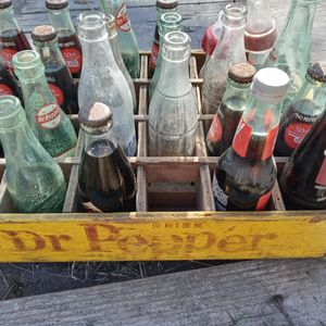 Antique Dr. Pepper Crate And Bottles for Sale in Manvel, TX