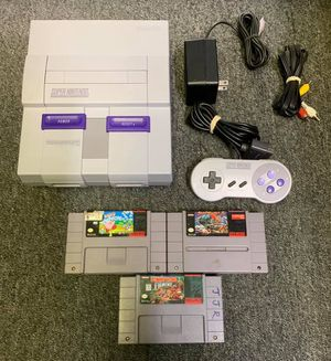 Nintendo Super Nintendo With 3 Games for Sale in Lakewood, OH