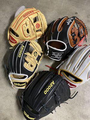 Baseball ⚾️ softball gloves Rawlings Wilson $$$ make me an offer$$$ for Sale in Chino, CA