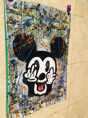 Mickey Mouse abstract artwork for Sale in Key Biscayne, FL