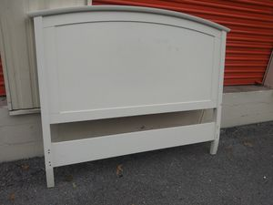 Queen size white wood headboard for Sale in Nashville, TN