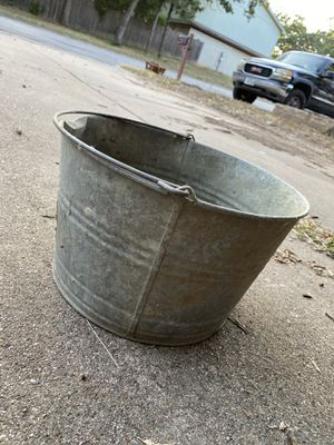 Metal bucket for Sale in Fort Worth, TX