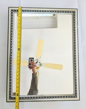 Bathroom vanity mirror with glass shelves 24 by 26 in for Sale in Middleton, MA
