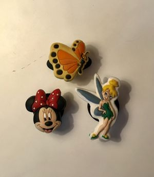 Crocs Jibbitz: Minnie Mouse, Tinkerbell, and Butterfly for Sale in Orlando, FL