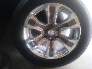 2019 dodge ram 1500 laramie longhorn 20 rims and tires for Sale in Jurupa Valley, CA