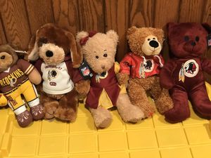 Redskins teddy bear there's five of them they're all brand newp for Sale in Walkersville, MD