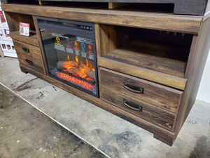 Fireplace TV Stand with Fireplace Insert for Sale in Fountain Valley, CA