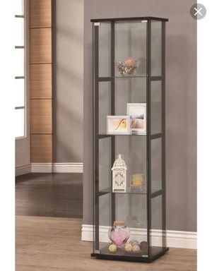 Coaster Contemporary Glass Curio Cabinet in Black for Sale in Sterling, VA