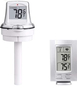Wireless Pool Floating Thermometer Easy Read for Swimming Pool, Bath Thermometer with LCD Display Base Station for Spa Pool, Hot Tubs, Aquariums and for Sale in Ontario,  CA