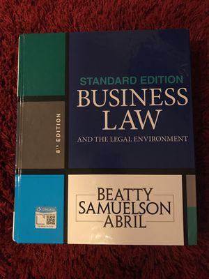 Business Law textbook for Sale in Dallas, TX