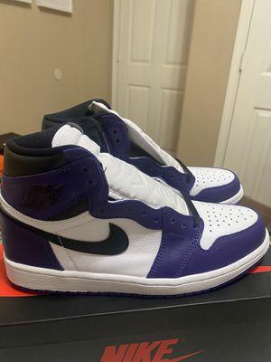 Jordan retro 1 court purple for Sale in Houston, TX