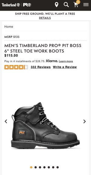 """Timberland pro pit boss 6"""" steel toe work boots size 11 for Sale in Carlsbad, CA"""