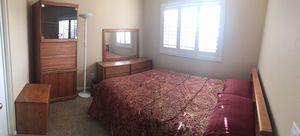 5 piece queen bedroom set, cedar wood for Sale in San Diego, CA
