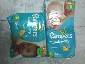 Pampers baby dry size 1&3 for Sale in Monroeville, PA