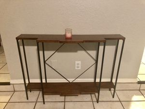 Modern low profile console table metal and wood for Sale in Austin, TX