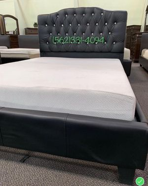 💫 New Queen Black Tufted Bed with Mattress Included 💫 for Sale in San Jose, CA
