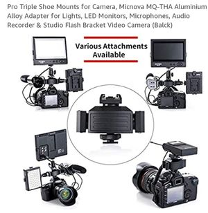 Pro Triple Shoe Mounts for Camera for Sale in Blacklick, OH