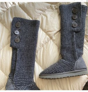 Grey knit UGG boots for Sale in Provo, UT