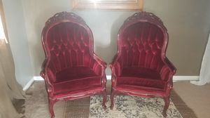 RED VELVET Antique Chairs Reduced $ for Sale in Seattle, WA