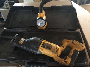 Dewalt reciprocator saw with light for Sale in Columbia, TN