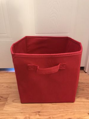 Red cloth container/storage bin for Sale in Largo, FL
