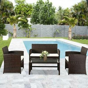 4Pcs Furniture Set with Cushions for Outdoor Patio Poolside Balcony for Sale in Phoenix, AZ