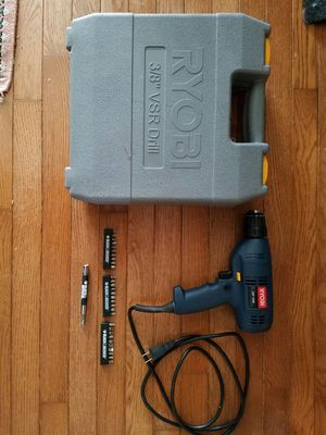 Ryobi power drill with 3 sets of interchangeable drill bits for Sale in Centreville, VA