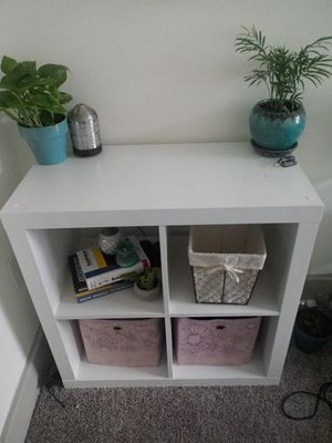 $30 OBO -White Wooden Cube Storage Shelves for Sale in Austin, TX