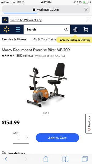 Marcy recumbent stationary exercise bike for Sale in Las Vegas, NV