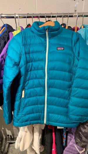 Girls Teal Patagonia Down Jacket Size Medium 12 for Sale in Seattle, WA