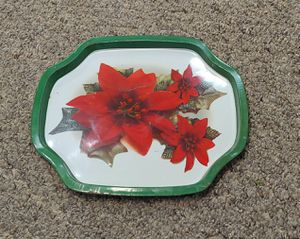 Vintage Poinsettia Tin Tray for Sale in Burlington, NC