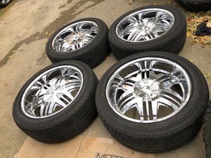 """22"""" wheels for Jeep' wrangler and for Ford expedition for Sale in Bolingbrook, IL"""