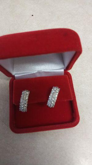 1 karat tw of Diamonds earrings 14 karat gold for Sale in Glendale, AZ