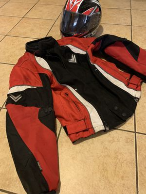 Motorcycle Helmet and Jacket. for Sale in Fresno, CA