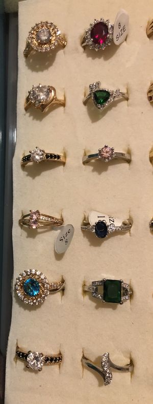 Sales!! White gold /gold plated rings for Sale in Methuen, MA