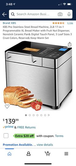 KBS pro stainless steel bread maker for Sale in Romoland,  CA