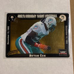 Bryan Cox Miami Dolphins 1993 Action Pack Unfolded Monday Night for Sale in Phelan,  CA