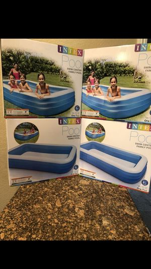 """BRAND NEW SWIMING POOL INTEX INFLATABLE SWIM CENTER FAMILY LOUNGE POOL, 120""""X 72""""X 22"""" FIRM $50 EACH for Sale in Fontana, CA"""