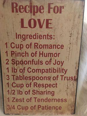 Recipe Love sign for Sale in Tampa, FL
